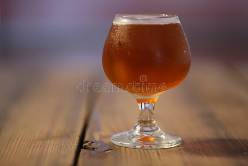 Assaggio della birra del mestiere fotografia stock