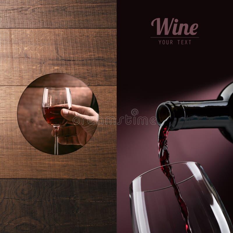 Assaggio di vino eccellente fotografie stock