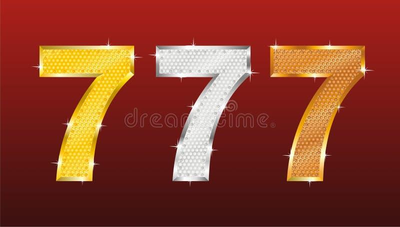 Assai sette illustrazione di stock