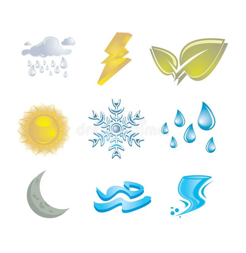 Assaisonne des icônes illustration de vecteur