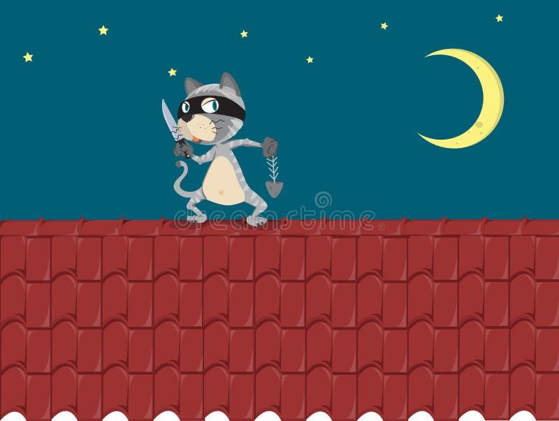 Assaltante de gato ilustração do vetor