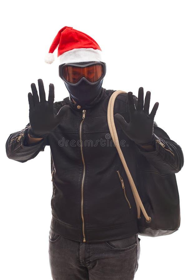 Assaltante de Santa Claus foto de stock
