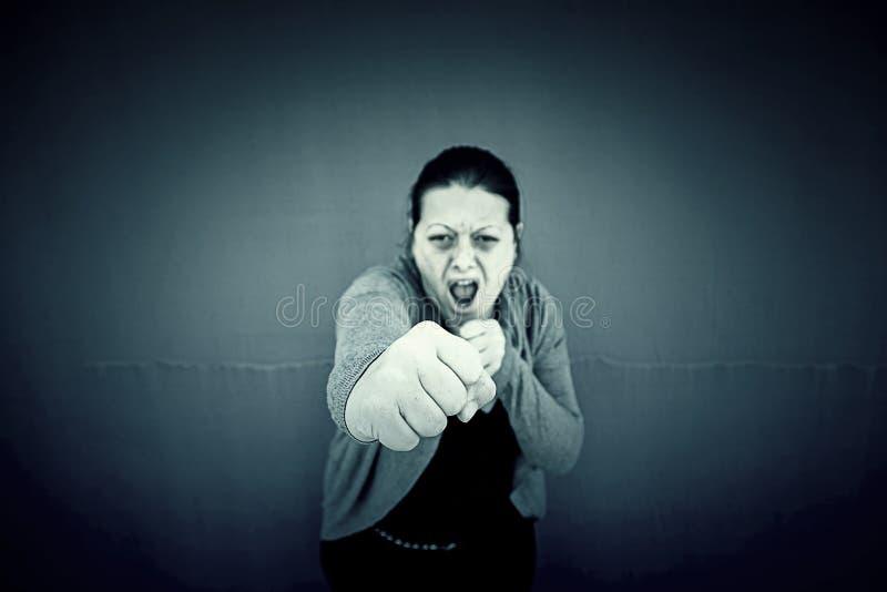 Assalto della donna fotografia stock libera da diritti