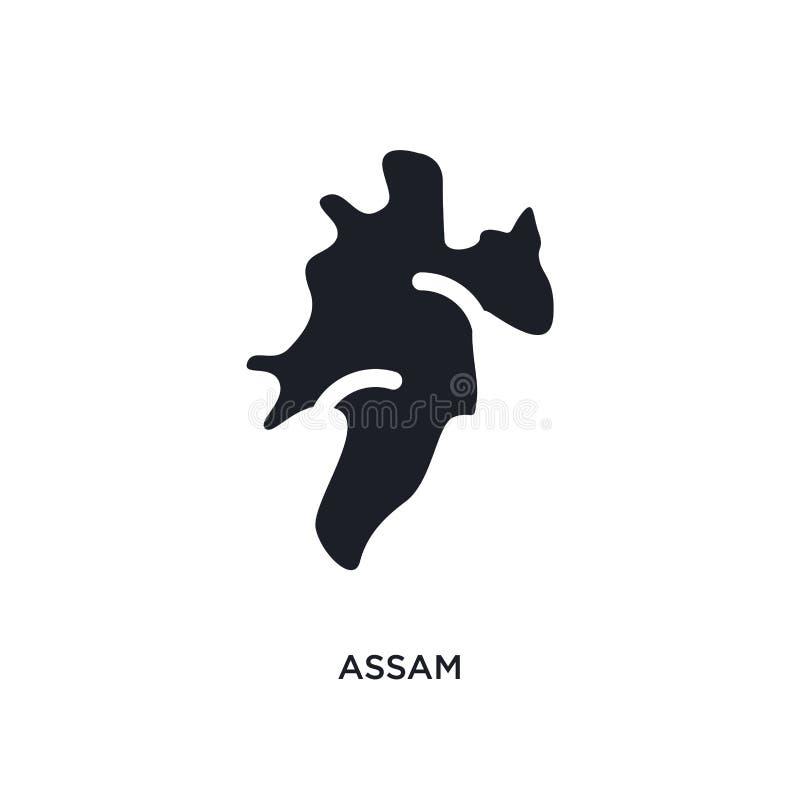 assam geïsoleerd pictogram eenvoudige elementenillustratie van het conceptenpictogrammen van India assam editable het symboolontw vector illustratie
