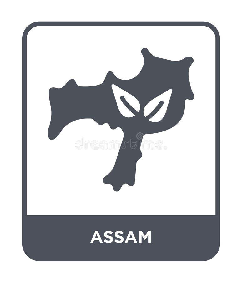 assam symbol i moderiktig designstil assam symbol som isoleras på vit bakgrund enkelt och modernt plant symbol för assam vektorsy vektor illustrationer