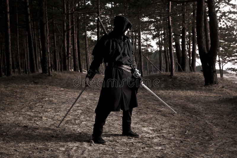 Download Assassin In The Deep Forest Stock Photo - Image of classic, night: 80259170