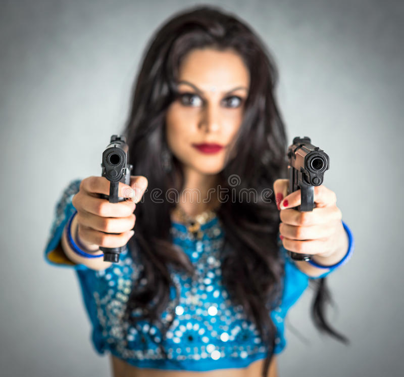 Assassin girl concept stock photo