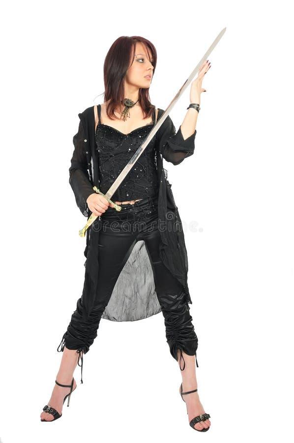 Free Assassin Woman Check Sword Stock Photo - 5672500