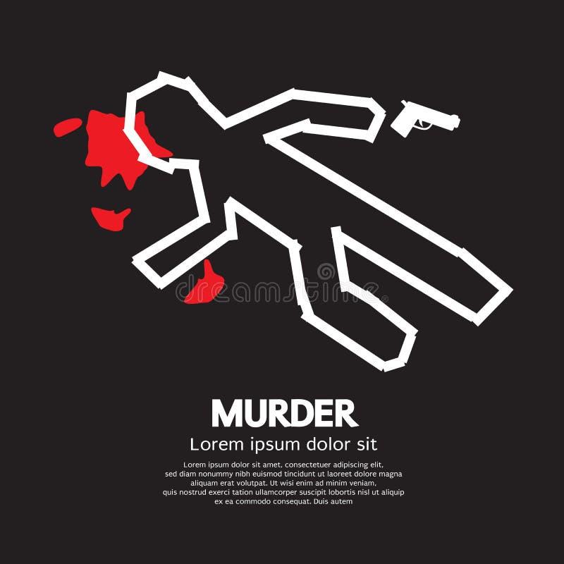 Assassinato ilustração stock