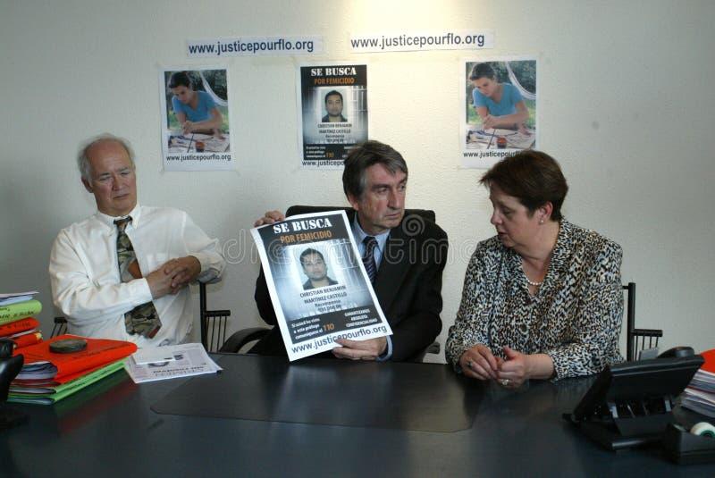 Assassinato de Florença Denefle em Guatemala fotografia de stock royalty free