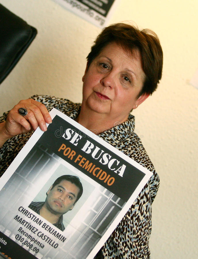 Assassinato de Florença Denefle em Guatemala fotografia de stock