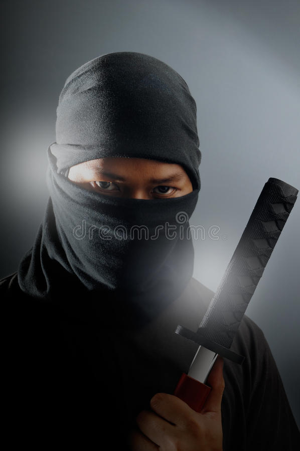 Assassino de Ninja foto de stock royalty free