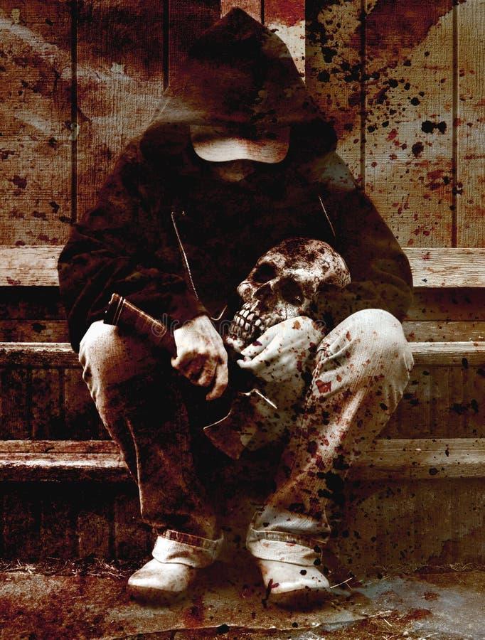 Assassino dell'ascia fotografie stock