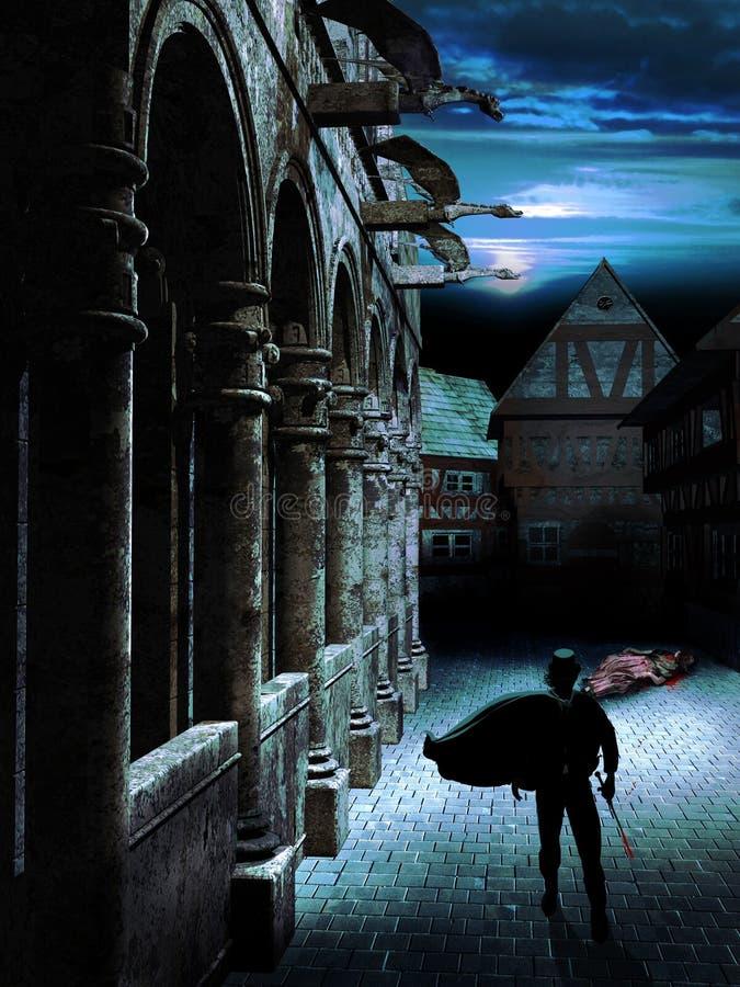 Assassino di notte illustrazione di stock