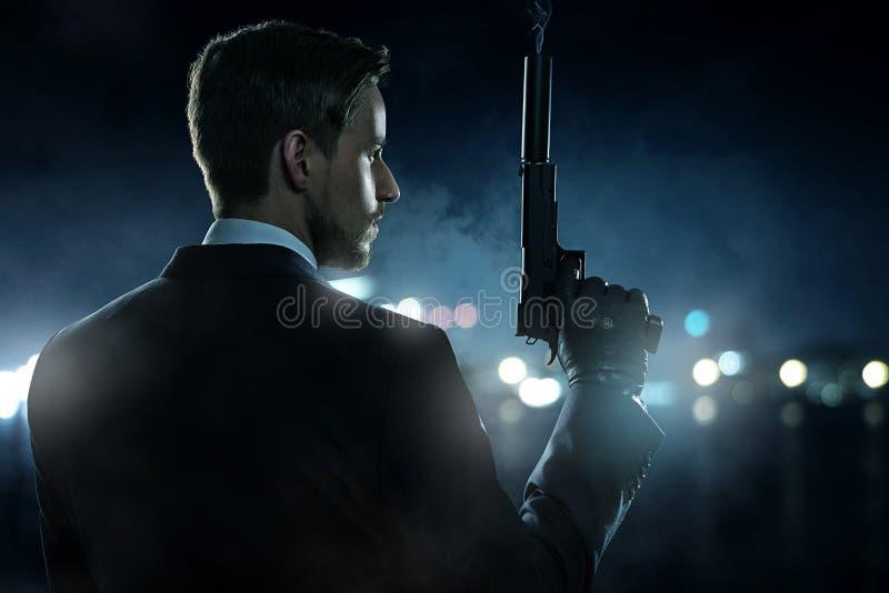 Assassino do contrato fotografia de stock