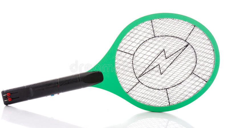 Assassino eletrônico dos mosquitos isolado no fundo branco fotos de stock royalty free