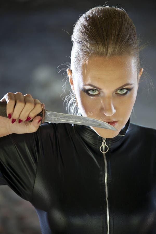 Assassino femminile fotografia stock libera da diritti