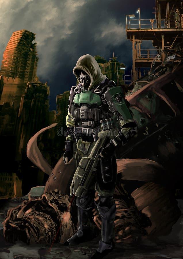 Assassino futuro ilustração do vetor