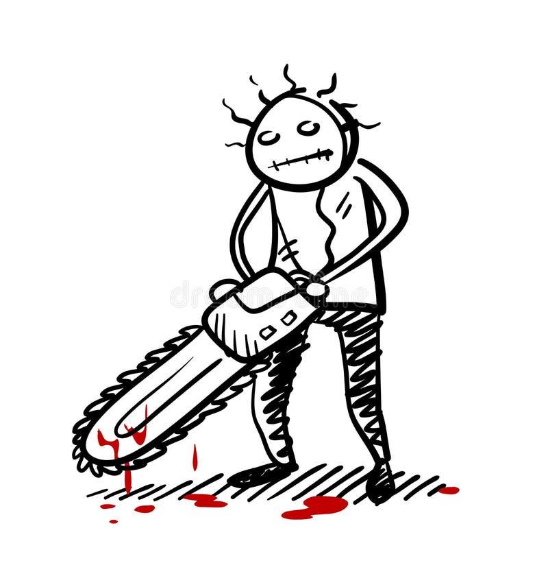 Assassino psicótico ilustração stock