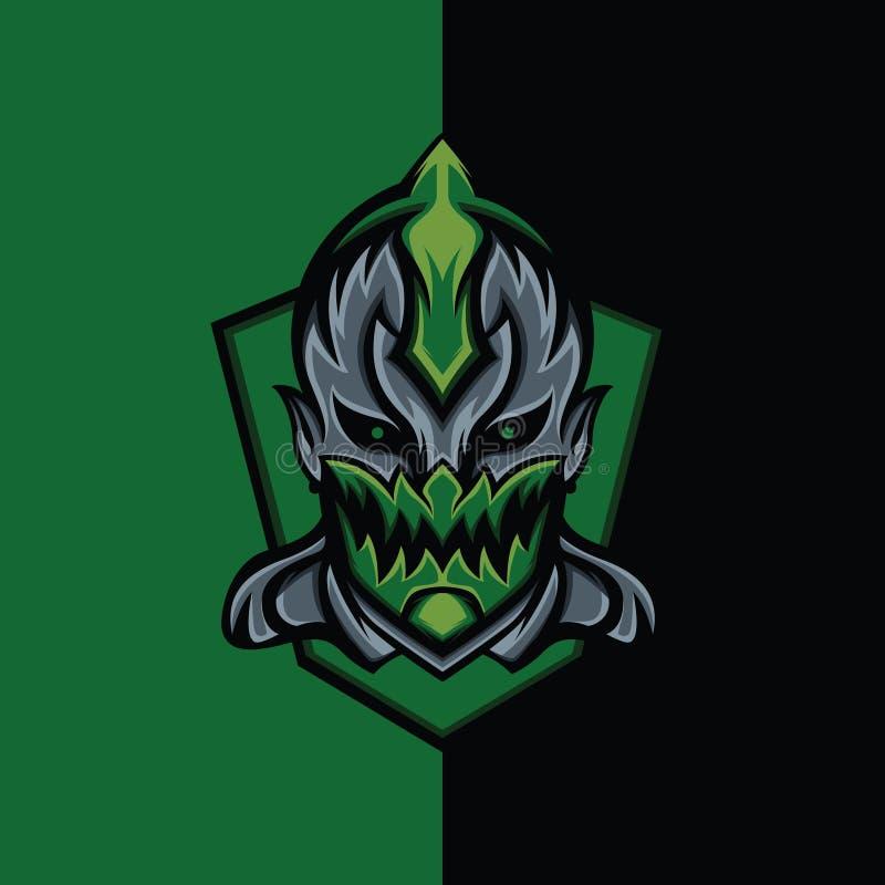 Assassino verde Devil ilustração stock