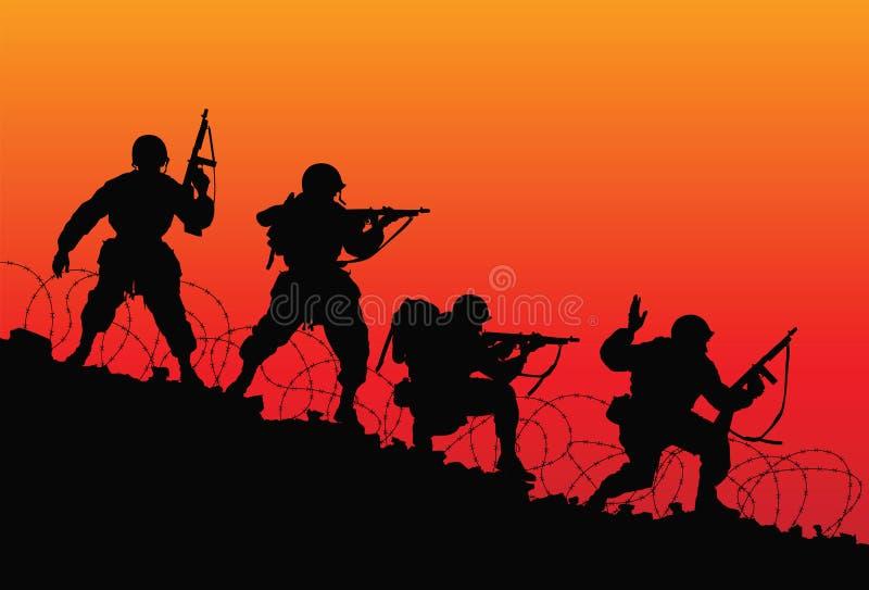 Assault. stock illustration