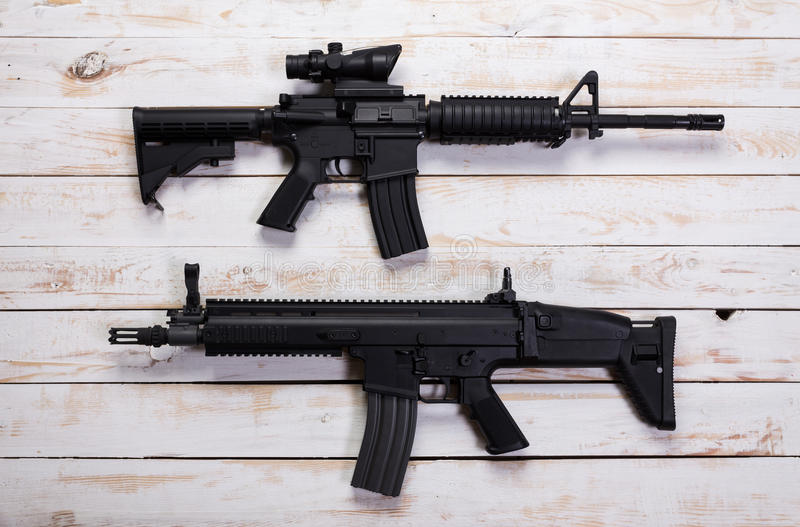 Assault automatic rifle royalty free stock photos