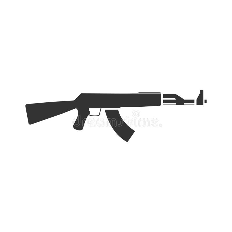 Assault rifle icon flat stock illustration