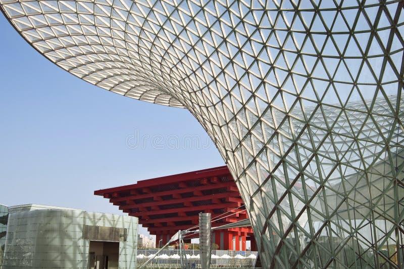 Asse del padiglione 2010 e dell'Expo di Schang-Hai Cina fotografia stock