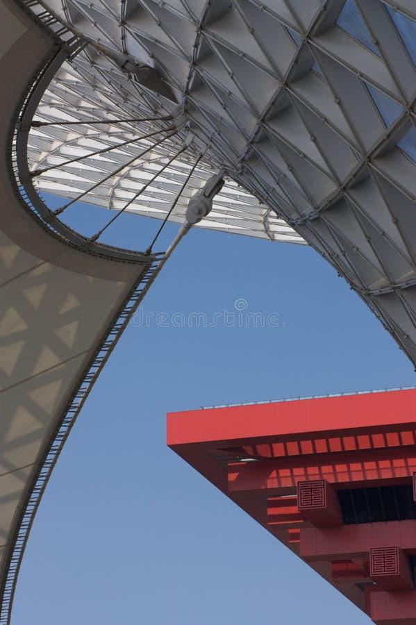 Asse dell'Expo e la Cina Pavillion immagine stock libera da diritti