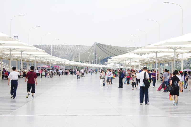 Asse dell'Expo in Expo2010 Schang-Hai fotografia stock libera da diritti