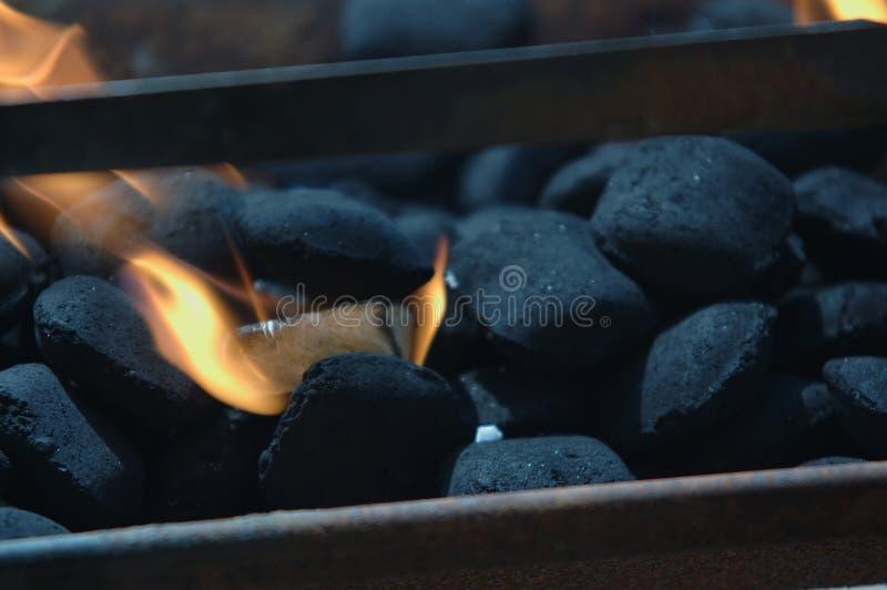 Asse o incêndio fotografia de stock
