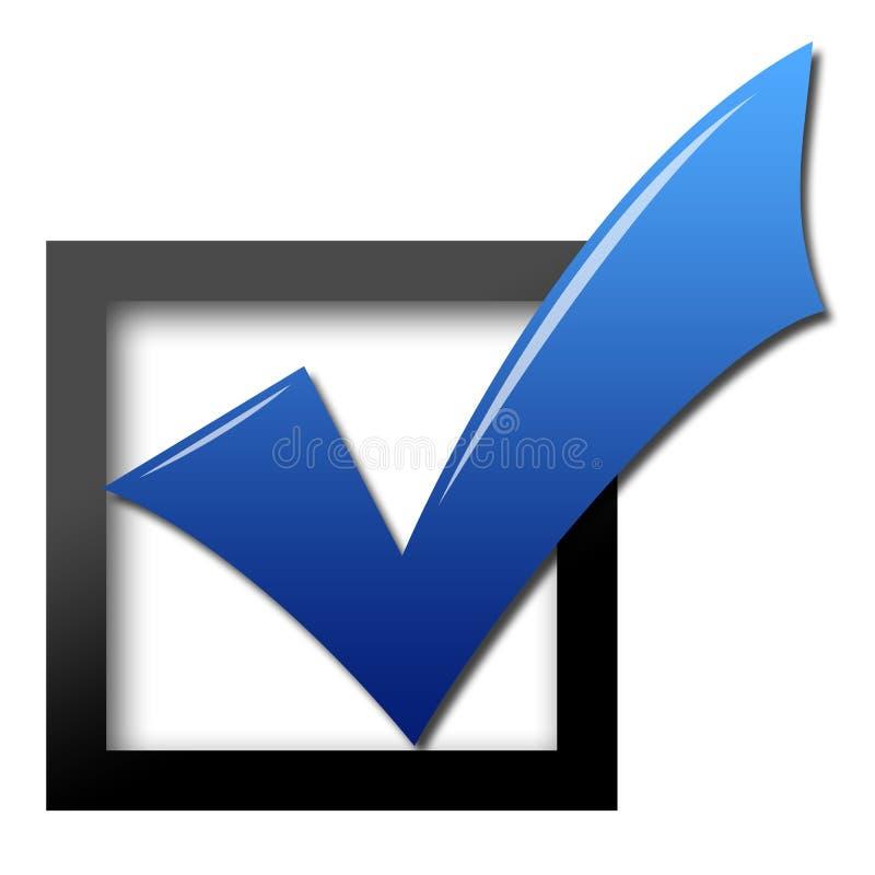 Assegno di voto illustrazione di stock