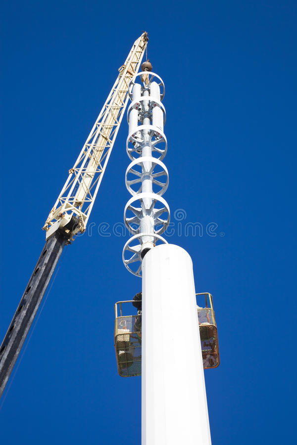 Assembilig Cell Tower Stock Photography