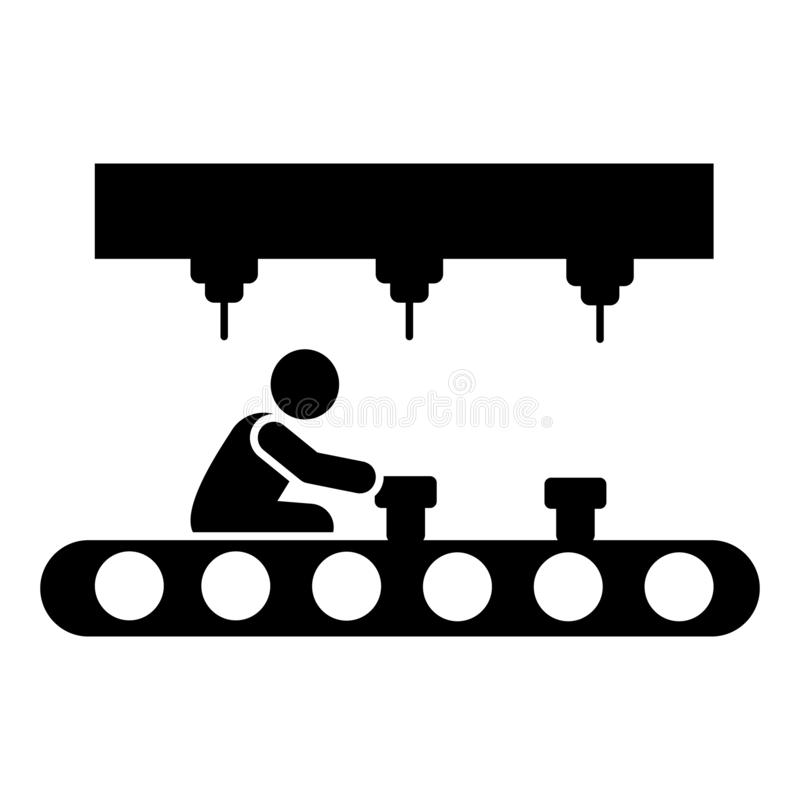 Assemblée, automation, robot, icône de fabrication ?l?ment d'ic?ne de fabrication Ic?ne de la meilleure qualit? de conception gra illustration de vecteur