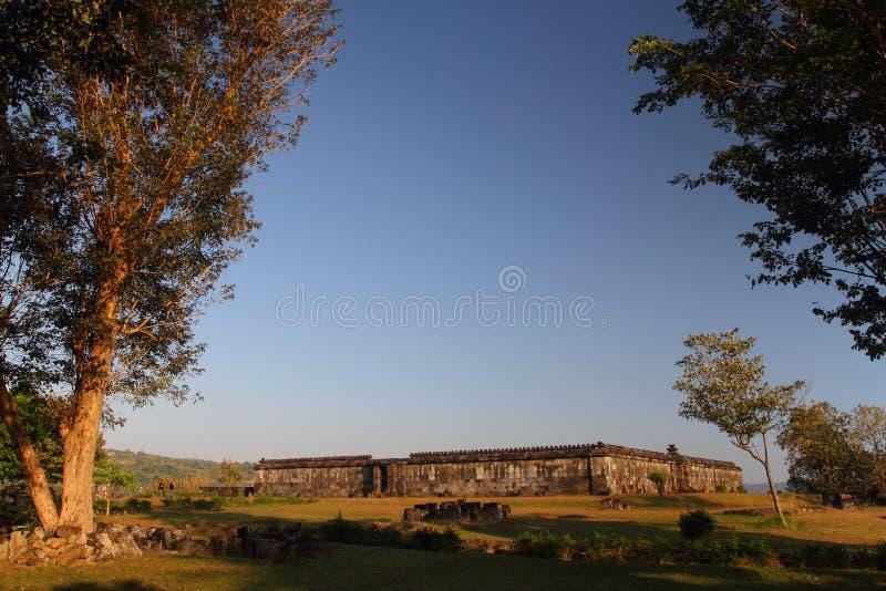 Assemblée hall de château de Ratu Boko photo libre de droits