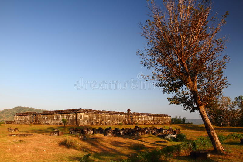 Assemblée hall de château de Ratu Boko photos stock