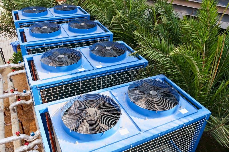 Assemblage de refroidissement de construction photos stock