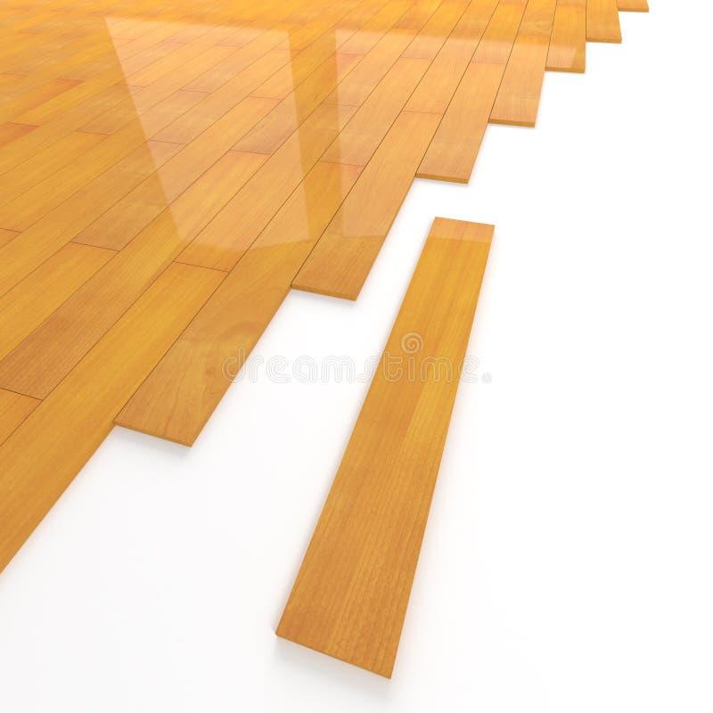 assemblea della piastrellatura del pavimento di legno di pino 3d royalty illustrazione gratis