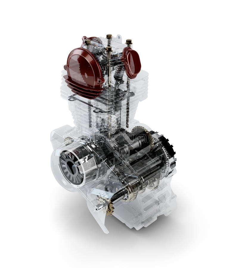 Free Assembled Motorcycle Performance Engine Royalty Free Stock Image - 27745496