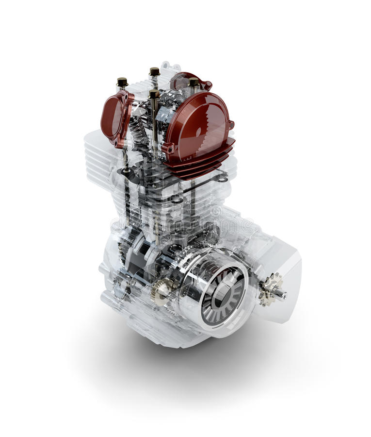 Free Assembled Motorcycle Performance Engine Stock Photos - 27745513