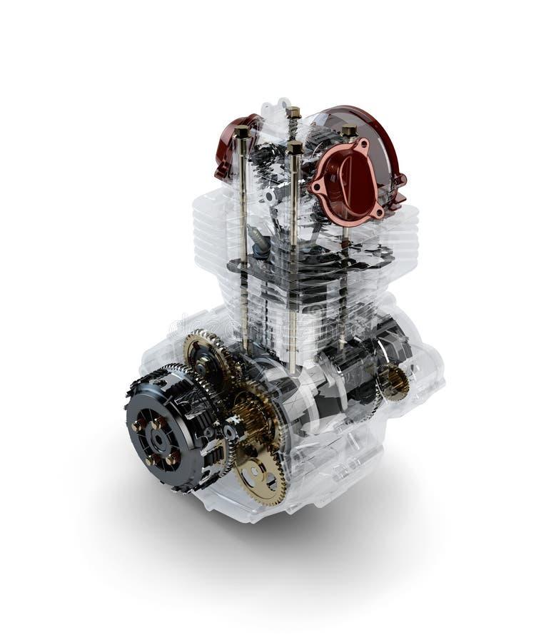 Free Assembled Motorcycle Performance Engine Stock Image - 27745521