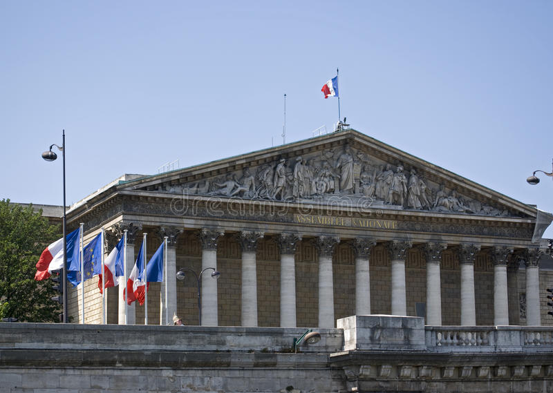assemblee nationale Paris zdjęcia royalty free