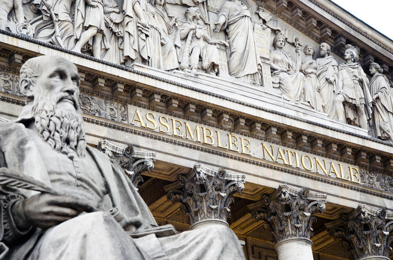 Assemblee nationale Paris royalty free stock photography