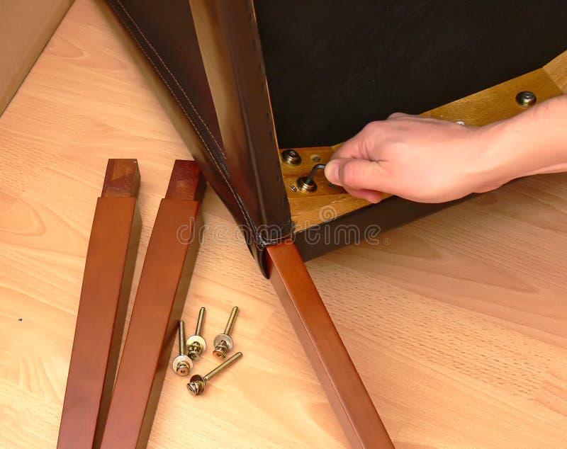 Assemblerend meubilair royalty-vrije stock foto