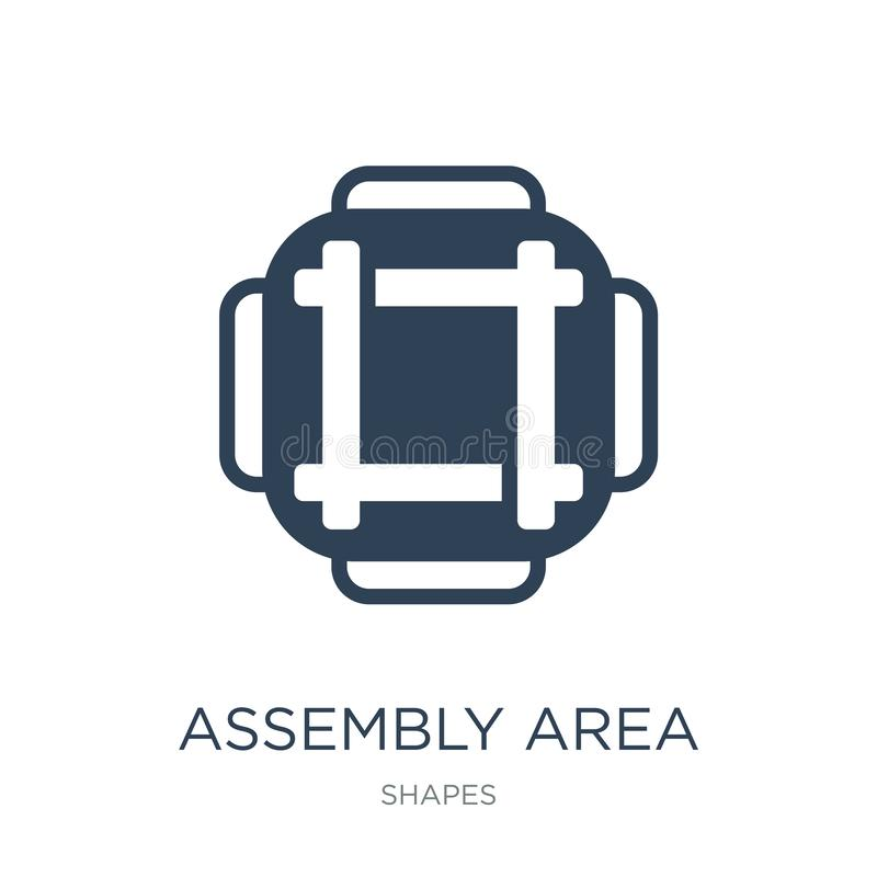 assembly area icon in trendy design style. assembly area icon isolated on white background. assembly area vector icon simple and vector illustration
