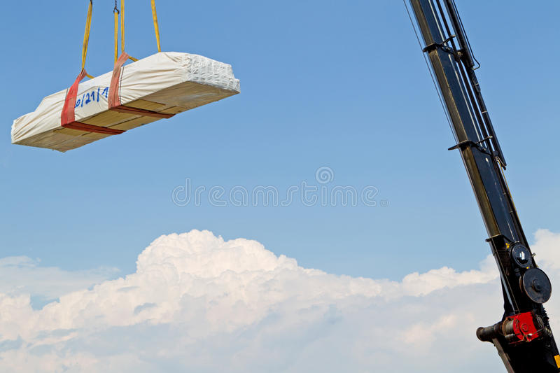 Download Assembly crane stock image. Image of site, weight, down - 17931227