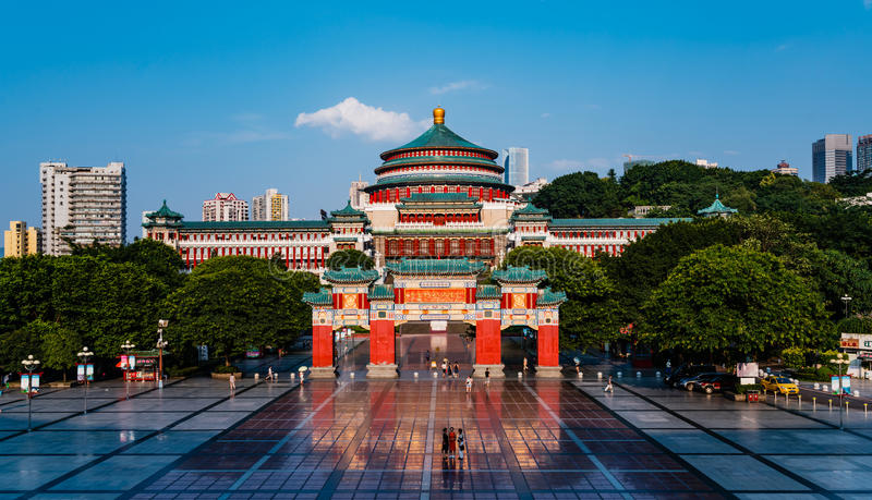 Great Hall of the People, Chongqing stock photo