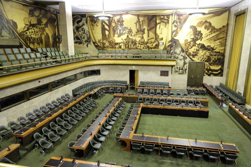 Assembly hall Salle des Pas Perdus royalty free stock photography