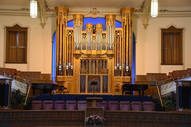 Assembly Hall in Salt Lake City, Utah royalty free stock photos
