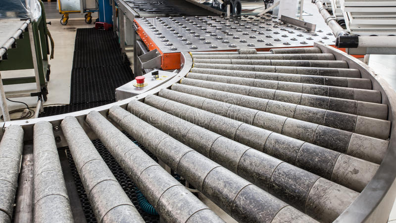 Assembly roller line. stock images
